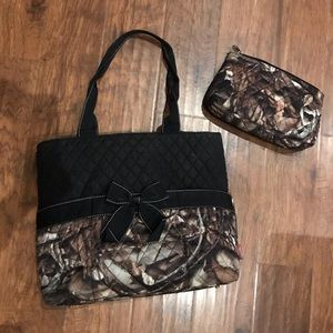 Camoflauge diaper bag and pouch